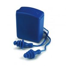 Par de tapones detectables y reutilizables con cordón de transporte