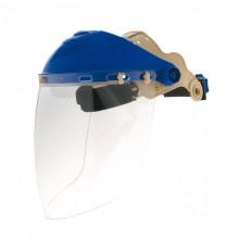 Pantalla contra impactos con visor esférico