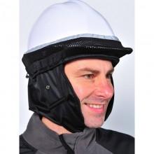 Capucha contra el frío para cascos de protección industrial