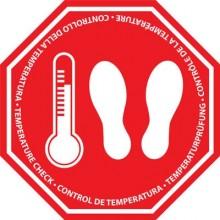 """Adhesivo de suelo """"Control de temperatura"""""""