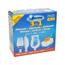 Pastillas lavavajillas 3 en 1: detergente, higienizante y abrillantador.