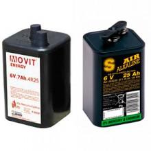 Bateries per a alimentació de lluminàries de trànsit.