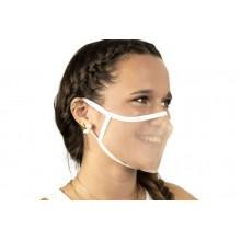 Mascarilla transparente reutilizable para mujer (40 lavados)