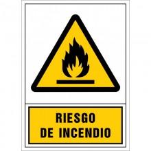 """Señal de """"Peligro de incendio"""""""