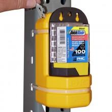 Contenedor de cuchillas usadas con soporte metálico