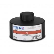 Filtro VISPRO 300A2 contra vapores orgánicos con punto de ebullición superior a 65ºC