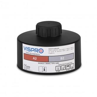 Filtro VISPRO 300A2B2 contra gases y vapores orgánicos e inorgánicos