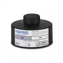 Filtro VISPRO 300B2P3 D R contra gases y vapores inorgánicos y partículas.