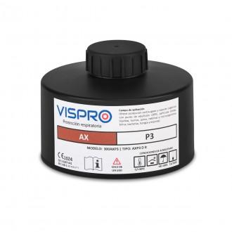 Filtro VISPRO 300AXP3 D R contra vapores orgánicos con punto de ebullición inferior a 65ºC y partículas