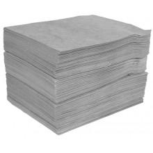 Caja de 100 alfombrillas absorbentes para productos químicos.
