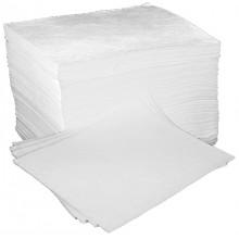 Caja de 100 alfombrillas absorbentes específicos para aceites y disolventes..