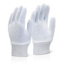 Guante 100% algodón blanco